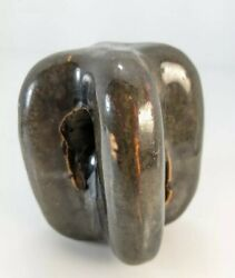 Ceramic Porcelain Electrical Johnny Ball Strain Guy Wire Insulator Brown