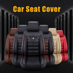 Deluxe Pu Leather Car Suv Seat Cover Frontandrear Seat Cushion Protector Full