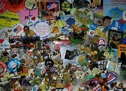 Lot Of Lbs Hundreds Vtg Pins Brooches Huge Variety Some Disney Gold Gf