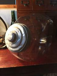 Vintage Candy Storage Glass Case Canister Cookie Jar Retro Free Shipping From Jp