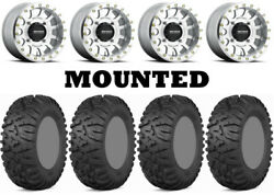 Kit 4 Itp Terra Claw Tires 27x9-14 On Method 401 Beadlock Machined Wheels Can