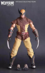 30cm Vintage Wolverine Logan With Yellow Brown Suite Action Figure Model Toy