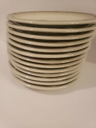Mikasa Fluted Shells Jb000 Saucers Stoneware 6 1/4andrdquo Lot Of 9 Made In Japan