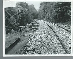 Nf-068 - Vintage Clinchfield Railroad 25-picture Lot Of Storm Damage To Tracks