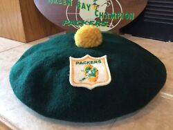 Rare Vintage 1960s Wool Beret Green Bay Packers Of The Vince Lombardi Days 🏉🏉