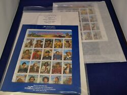 Scottand039s No. 2869 And 2870 Legends Of The West Error And Revised Sheets - Rare Set