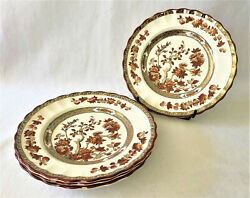 """Set Of 4 Copeland Spode England India Tree Bread And Butter Plates 6 ½"""" Old Mark"""