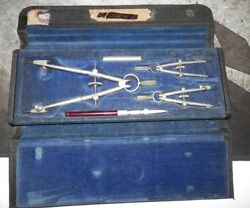 Vintage Protractor Kit /w Case Tool By Keuffel And Esser Kandeco Minusa Compass Vgc