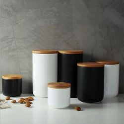 Ceramic Jar Sealed Storage Container Lid Bottle Tank Coffee Food Spices Seal Can