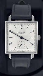 Nomos Tetra Glass Black 406 Watch Leather Band 2500