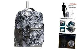 18 inches Wheeled Rolling Backpack for Boys and Girls School Student Gray $98.37