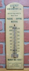 Beverly Van Co New York Old Ad Thermometer Packing Shipping Moving Dorfmann Ny