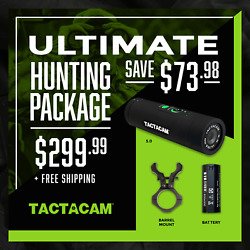 Tactacam Ultimate Hunting Package 5.0 Camera Barrel Mount Xtra Battery
