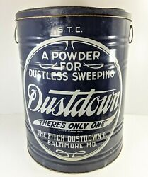 Huge Fitch Dustdown Co Powder Advertising Tin Baltimore Md Vintage Can