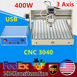 400w 3 Axis Usb Cnc 3040 Router Engraver Drilling Milling Motor 3d Cutter Ac110v