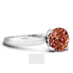 1 1/4 Ct Rouge Vs1 Coupe Ronde Naturel Certifiandeacute Diamants 14k Or Side-stone Ring