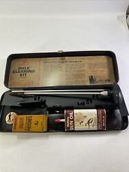Vintage Outers Gunslick.22 Gun Cleaning Rifle Kits No.477 Lead Top Oil Can