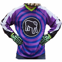 Holy Freedom Ventidue Dirty Motorcycle Motorbike Off Road Jersey Purple / Blue