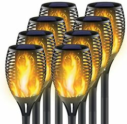 8 Pack Solar Torch Flame Dancing Light Led Flickering Flame Lamp Outdoor Garden