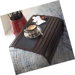 Couch Arm Table Sofa Arm Tray - Flexible Foldable Coaster Tray. C Table Drink...