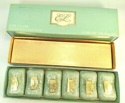 Vintage 1960and039s Estee Lauder Youth Dew Guest Soap X6 W/box Nos