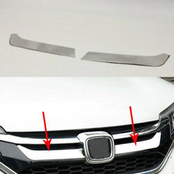 2x Front Grille Silvery Stainless Decorative Trim For Honda Cr-v Crv 2015-2016