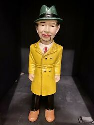 Dick Tracy Ventriloquist Dummy Doll Figure Early 1930s Working Mouth