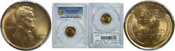 1909-s/s Lincoln Cent Pcgs Ms-65 Rb