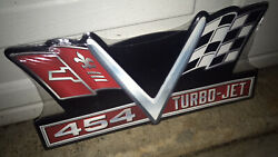 Chevrolet Chevy 454 Turbo Jet Embossed Metal Signs Man Cave Garage New