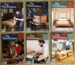 Fine Woodworking Magazine 1989 Full Year 6 Issues 74 To 79 Taunton Press Vtg