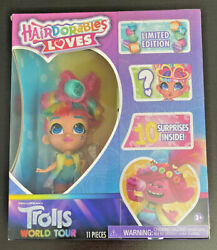 Hairdorables Loves Trolls World Tour Doll Limited Edition 10 Surprises 11 Pc New