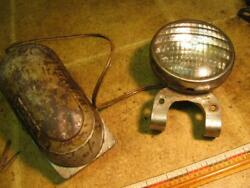 Vintage Delta Sealed Beam Head Light And Battery Box Bicycle