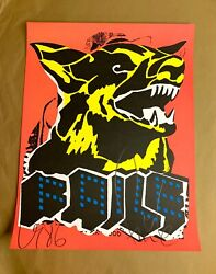 Faile Dog Black Light Signed And Stamped Art Print 1st Ed New York Invasion Poster