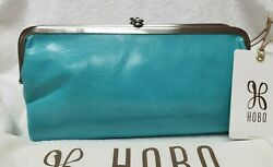 New Color with Tags Hobo Original LAUREN Wallet Clutch Aqua $112.00