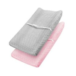 Babebay Changing Pad Cover - Ultra Soft Minky Dots Plush Changing Table Cover...