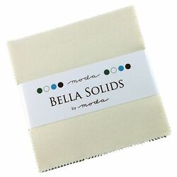 Bella Solids Ivory Moda Charm Pack By Moda Fabrics 42-5 Quilt Squares