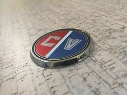 Stainless Steel Bow Medallion And Cv Bow Decal For Glastron Carlson +extra Decal