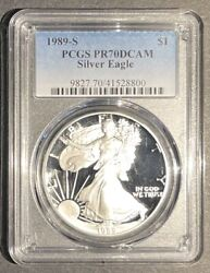 1989-s Proof American Silver Eagle Pcgs Pr-70 Dcam, Buy 3 Items, Get 5 Off