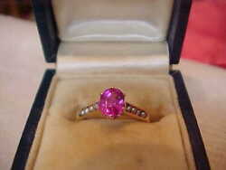 Antique No Heat Ruby And Seed Pearl Ring