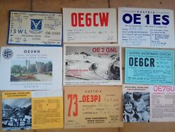 Qsl Austria Cards Postcards Lot Of 40 From Ham Radio 50and039s-70and039s