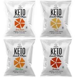 Genius Gourmet Keto Snack And Protein Chips - 4-flavor Variety Pack