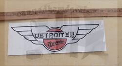 Detroiter Travel Trailer Camper Coach 12 Set Of 2 Decals Red White And Black