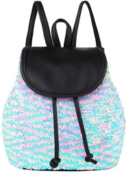 Yisi Flip Sequins Mini Backpack Small Backpack Purse For Teen Girls Gift For Sch $21.99