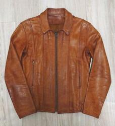 70s Eastwest Leather Jacket Brown Size L F/s From Japan