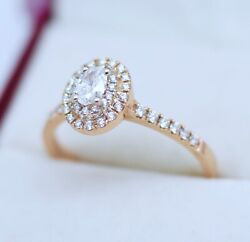 Vintage Antique Art Deco Jewelry Gold Ring 0.71ct Natural Diamond Jewellery T1/2