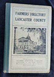 1914 Farm Journal Farmers Directory Lancaster County Pa Local Farm Related Ads