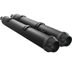 Freedom Performance Exhaust 4.5 Slip-on Mufflers Black Outlaw Indian Touring