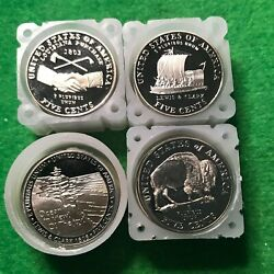2004-s And 2005-s Proof Jefferson Nickels. Peace Keel Ocean And Buffalo. 40 Ea.