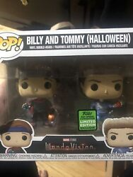 Funko Pop Marvel Wandavision Billy And Tommy Halloween 2-pack Eccc Exclusive