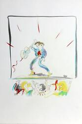 John Lennon Itand039s Only Rock Nand039 Roll Lithograph With Hand-coloring On Arches
